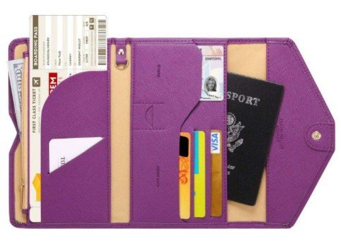 Zoppen Mulit-Purpose RFID Blocking Travel Passport Wallet