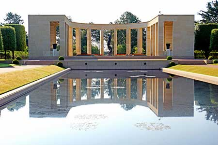 The Memorial and Reflecting Pool at the American Cemetery