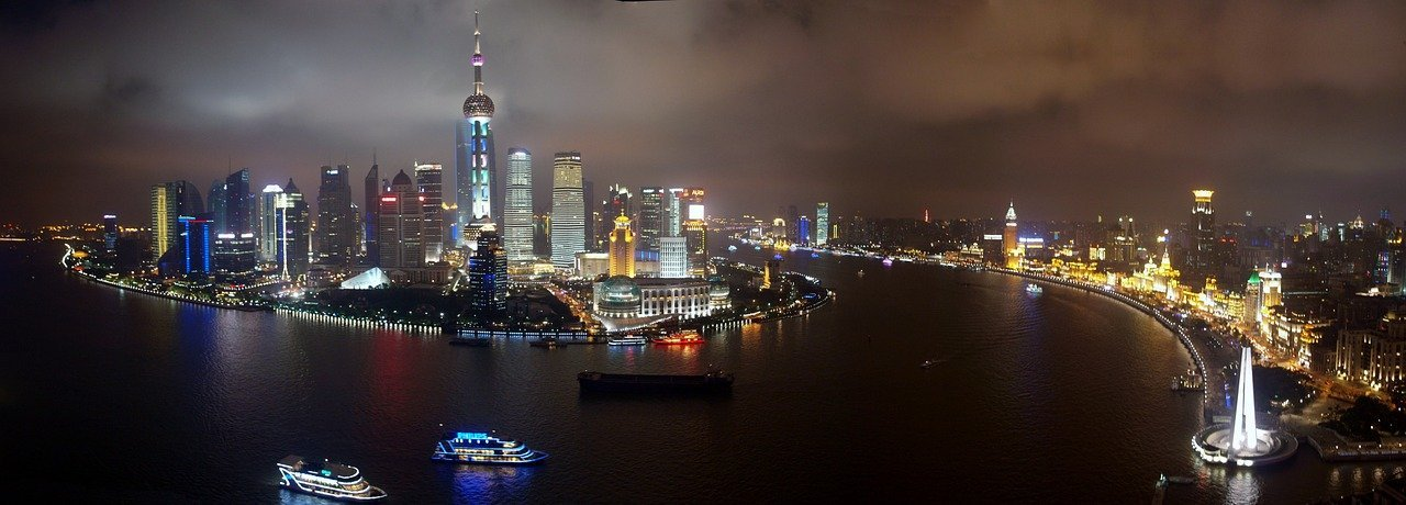 City of Shanghai at night